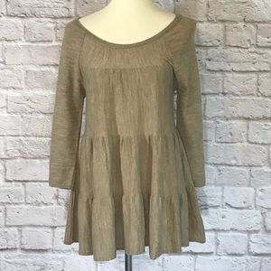Knitted & Knotted Brown/tan tiered sweater…